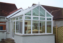 Regency Style - Stylish design with blue tint glass to roof.