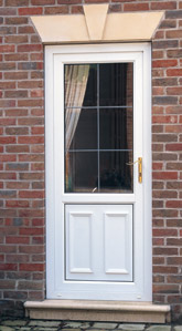 Gloss white part panelled door. An excellent rear door.